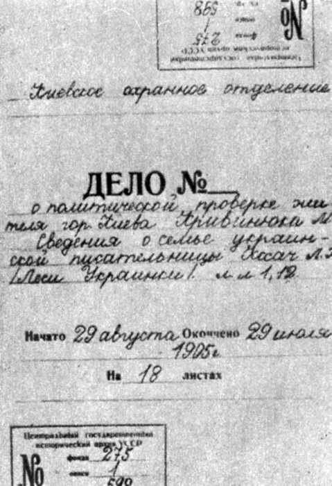 1905 р. Жандармська справа - документ…