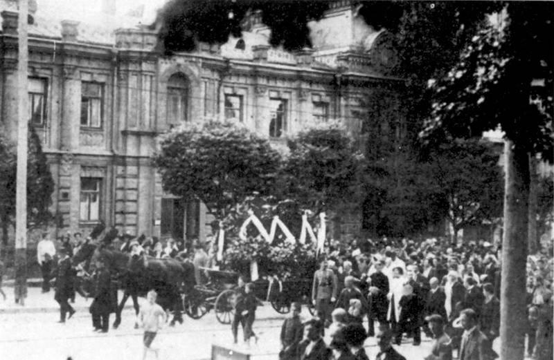Фото похорону Лесі Українки. 1913 р.