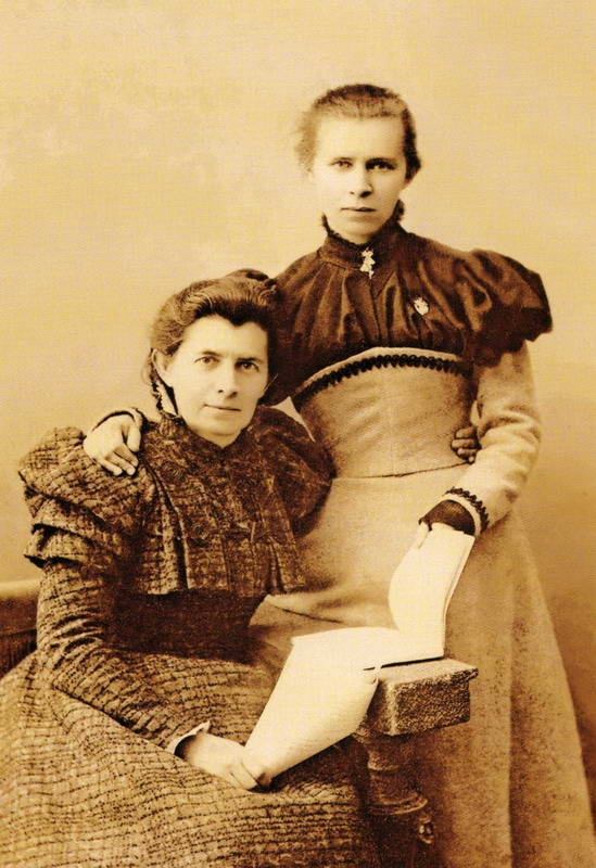 Фото Леси Украинки с матерью, 1898 г.