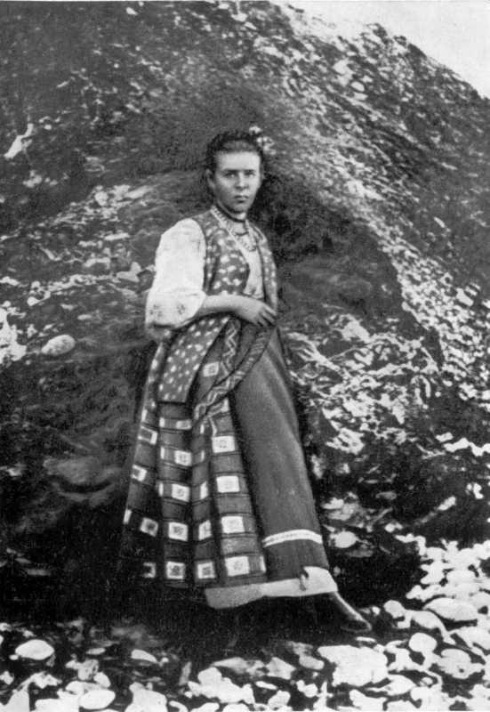 Lesja Ukrainka in Crimea. Photo 1897
