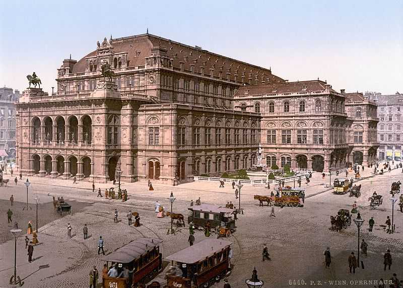 Opera house in Vienna (late 19th cent.)