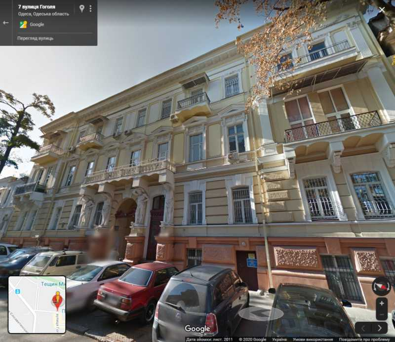 Apartment building in Odessa on the…