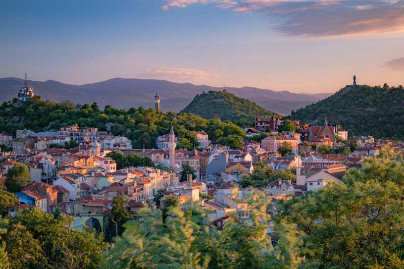Сучасна панорама міста Пловдив