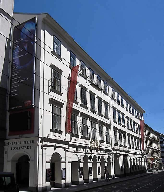 Общий вид театра в Йозефштадте в Вене